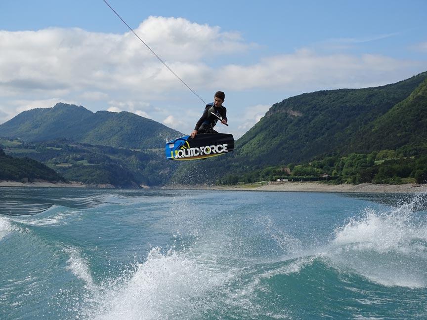 compétitions de wakeboard - Maxime Cadoux